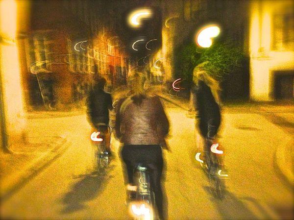 bike ride two girls