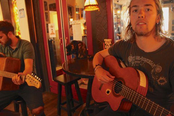 guitar flying pig