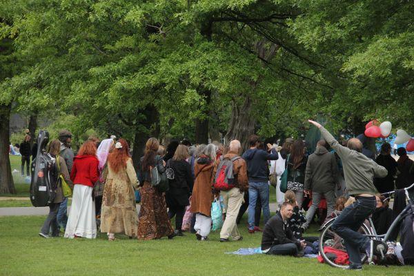 park crowd