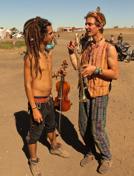 hippies hanging 2