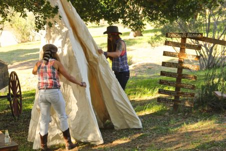 setting up teepee
